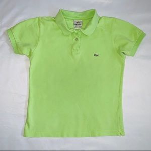 Lacoste Polo Lime Green Gold shirt